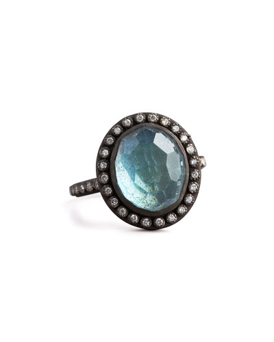Armenta Labradorite & Pave Diamond Ring
