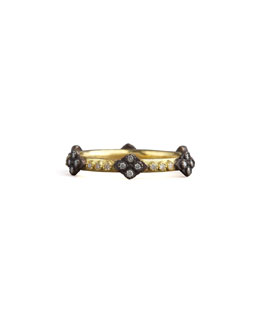 Armenta Cravelli Cross Diamond Ring, Gold