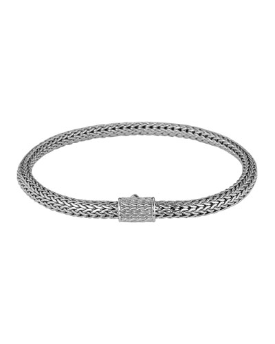 John Hardy Classic Chain 5mm Extra-Small Braided Silver Bracelet