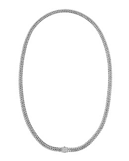 John Hardy Classic Chain & Pave Diamond Necklace