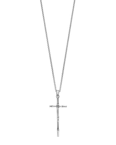 Bamboo Cross Pendant Necklace