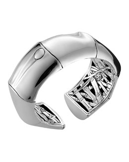 John Hardy Silver Kick Cuff, Medium