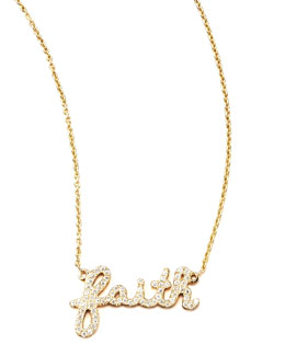 Sydney Evan Diamond Faith Necklace