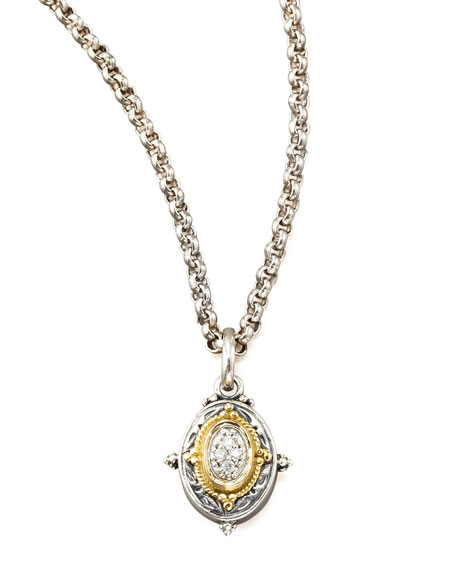 konstantino pave pendant necklace