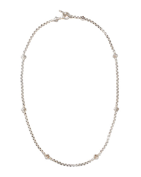 "Quatrefoil Station Necklace, 28""L"