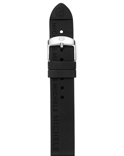 MICHELE 16mm Silicon Strap, Black