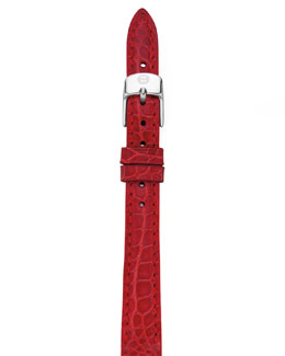 MICHELE 12mm Alligator Strap, Garnet