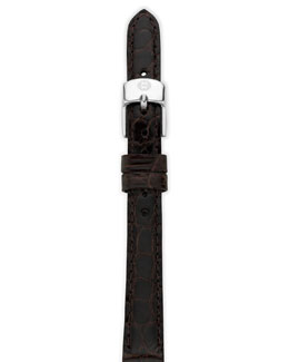 MICHELE 12mm Alligator Strap, Espresso