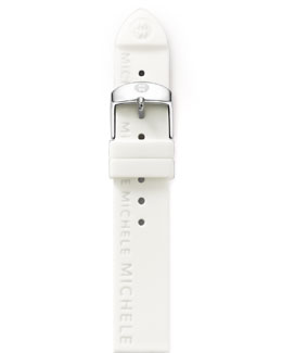 MICHELE 20mm Silicon Strap, White