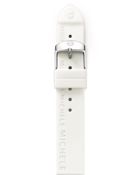 20MM WHITE SILICON STRAP