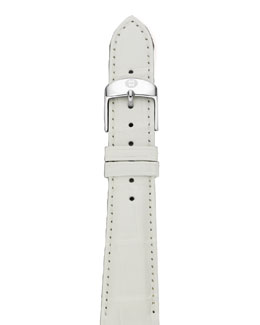 MICHELE 20mm Alligator Strap, White