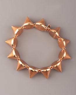 Eddie Borgo Large Rose Gold Cone Bracelet