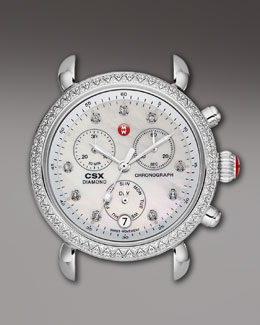MICHELE CSX 36 Diamond-Bezel Watch Head