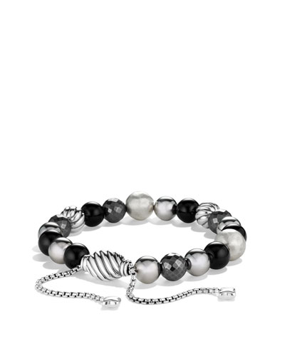 David Yurman DY Elements Bracelet with Black Onyx and Hematine