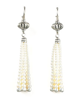 Lagos Luna Pearl-Tassel Earrings