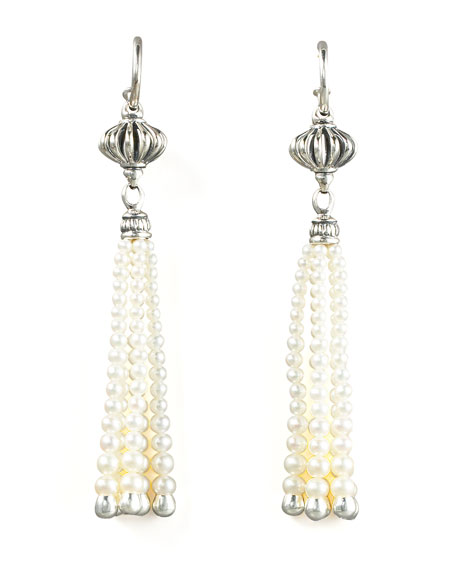 Luna Pearl-Tassel Earrings
