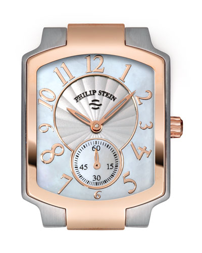 Philip Stein Small Classic Two-Tone Rose Gold Watch Head
