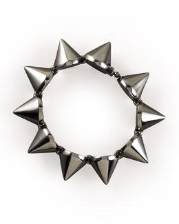 Eddie Borgo Large Gunmetal Cone Bracelet