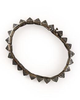 Eddie Borgo Small Pave Pyramid Bracelet, Gunmetal