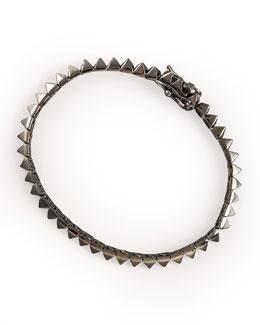 Eddie Borgo Gunmetal Pyramid Tennis Bracelet