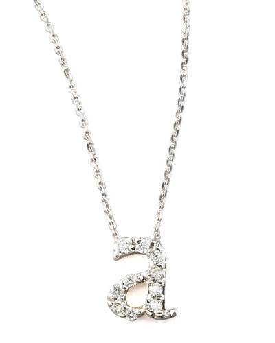 KC Designs Diamond Letter Necklace, A