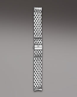 Michele 16mm Cloette Bracelet Strap, Stainless Steel