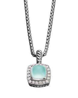 David Yurman Petite Albion Necklace, Aqua Chalcedony
