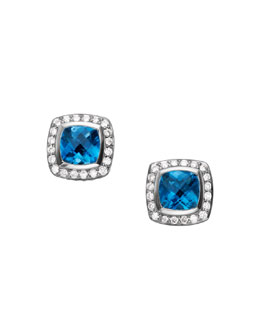 David Yurman Petite Albion Earrings, Blue Topaz, 7mm