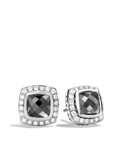 David Yurman Petite Albion Earrings with Hematine and Diamonds