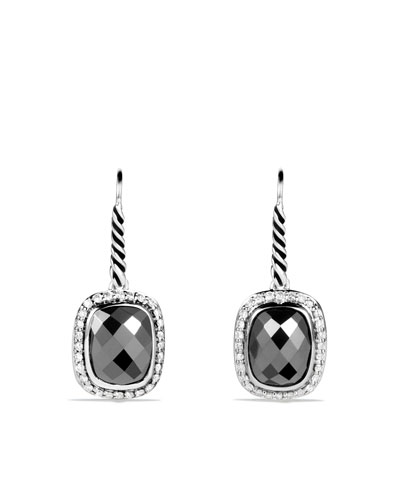 David Yurman Noblesse Drop Earrings with Hematine and Diamonds