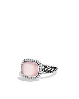 David Yurman Noblesse Ring with Rose Quartz and Diamonds