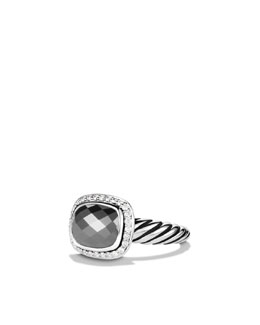 David Yurman Noblesse Ring with Hematine and Diamonds