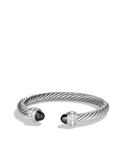 David Yurman Cable Classics Bracelet with Hematine and Diamonds