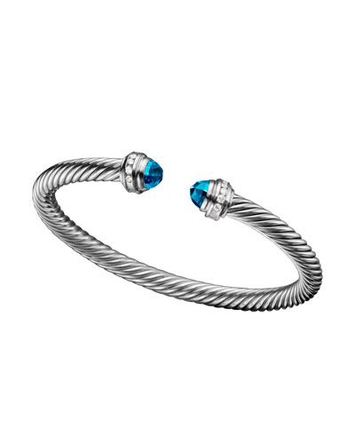 David Yurman Cable Classics Collection® Bracelet, Blue Topaz