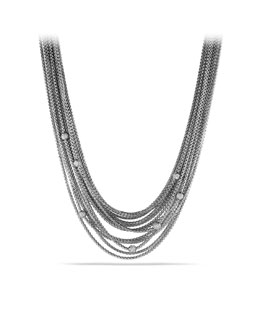 David Yurman Sixteen-Row Chain Necklace with Diamond Beads