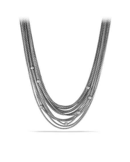 Sixteen-Row Chain Necklace with Diamond Beads