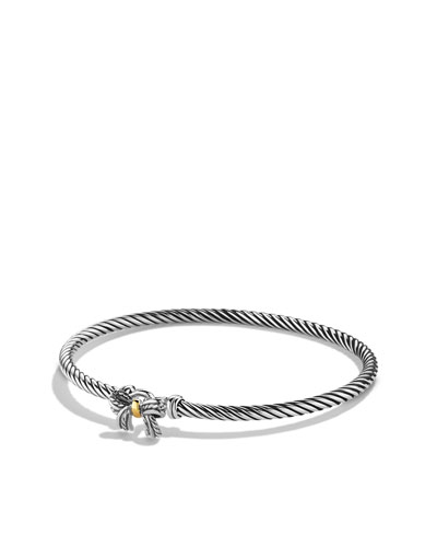 David Yurman Cable Collectibles Ribbon Bracelet with Gold