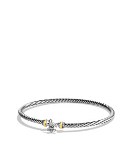 David Yurman Cable Collectibles Fleur-de-lis Bracelet with Gold