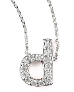 KC Designs Diamond Letter Necklace, D