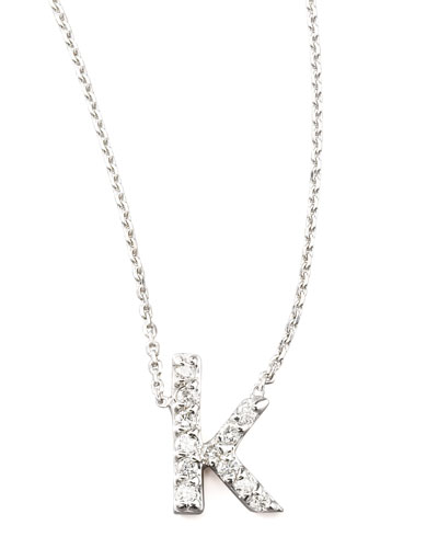 KC Designs Diamond Letter Necklace, K