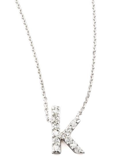 Diamond Letter Necklace, K