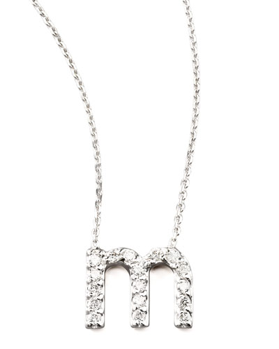 KC Designs Diamond Letter Necklace, M