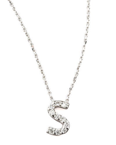 KC Designs Diamond Letter Necklace, S