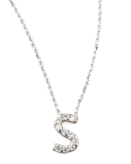 Diamond Letter Necklace, S