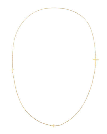 "Integrated Cross Necklace, 36""L"