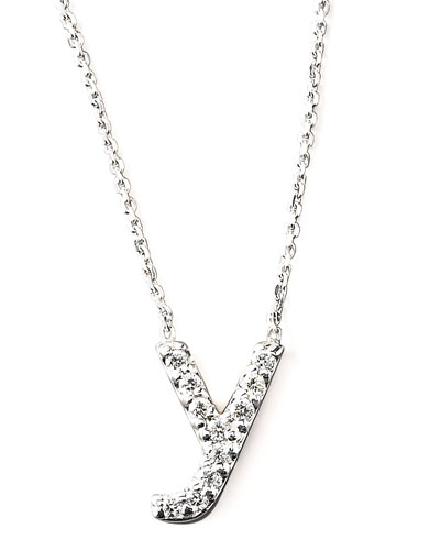 KC Designs Diamond Letter Necklace, Y