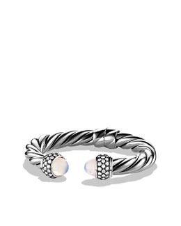 David Yurman Cable Classics Bracelet with Moon Quartz and Diamonds