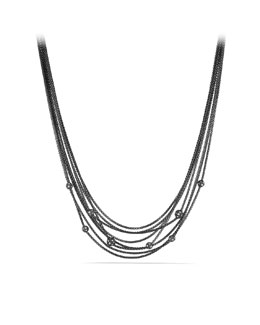 David Yurman Midnight Mélange Chain Necklace with Diamond Beads