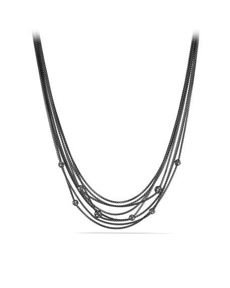 Midnight Mélange Chain Necklace with Diamond Beads