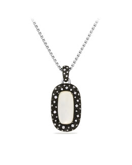 David Yurman Midnight Mélange Pendant with Moon Quartz and Diamonds